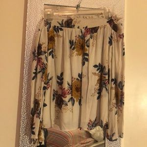 Floral O'Neill off the shoulder long sleeve